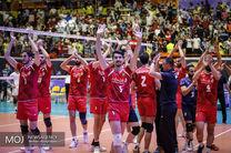 گام بلند تیم ملی والیبال ایران برای کسب مدال