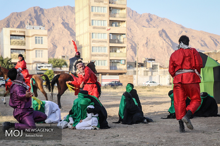 مراسم تعزیه و خیمه سوزی روز عاشورا در کرمانشاه