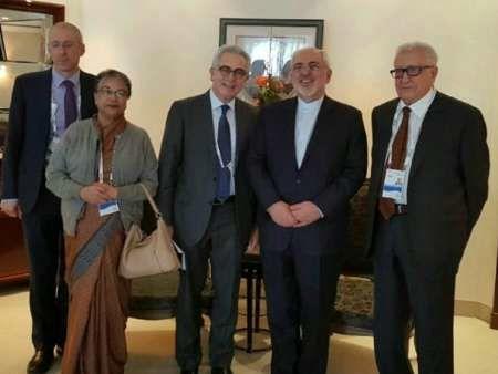 دیدار هیات ریش سفیدان ( Elders ) سازمان ملل متحد با وزیر امور خارجه ایران