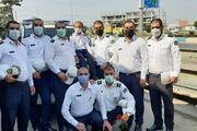 ماموران پلیس راه مازندران موی سر خود را تراشیدند