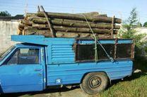 ۲۳ اصله انواع چوب های جنگلی قاچاق در لاهیجان کشف و ضبط شد