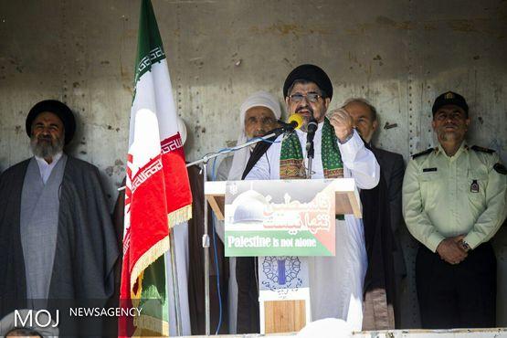 بنیانگذار انقلاب اسلامی ما به حمایت از مظلومین، روز قدس را نامگذاری کردند
