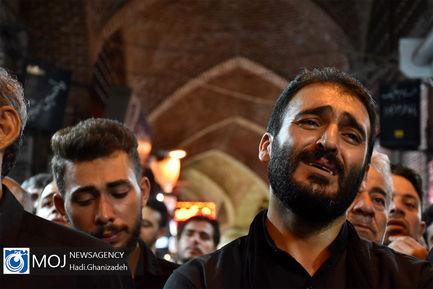 عزاداری شب ششم ماه محرم در بازار اردبیل