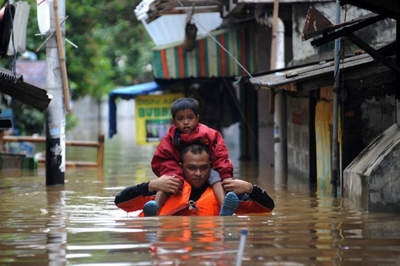 Floods in Jakarta left at least 5 killed
