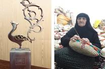 تقدیر از بانوی کپوباف خوزستانی در همای هنر
