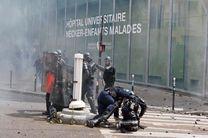 سه شنبه شب سخت برای دولت فرانسه / درگیری پلیس با معترضان / آتش زدن خودروها / شکستن شیشه فروشگاه ها