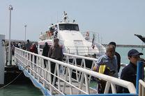 شناورها با ۵۰ درصد ظرفیت به بوموسی سفر می کنند