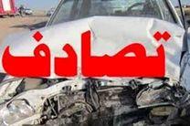 تصادف اتوبوس مسافران مشهد مقدس در جاده خرانق به ساغند