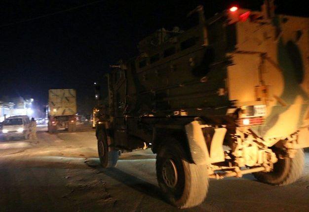 حمله شبانه ارتش سوریه به کاروان نظامی ترکیه