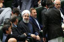 وزرای همراه حسن روحانی برای حضور در جلسه طرح سوال از رییس جمهوری