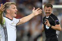پنالتی فرانسه در بازی با آلمان درست نبود + تصویر