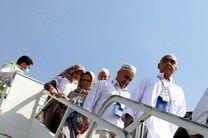 اولین گروه حجاج مازندرانی وارد فرودگاه دشتناز ساری شدند