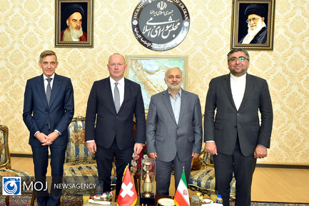 دیدار رییس مجلس شورای ملی سوییس با قالیباف