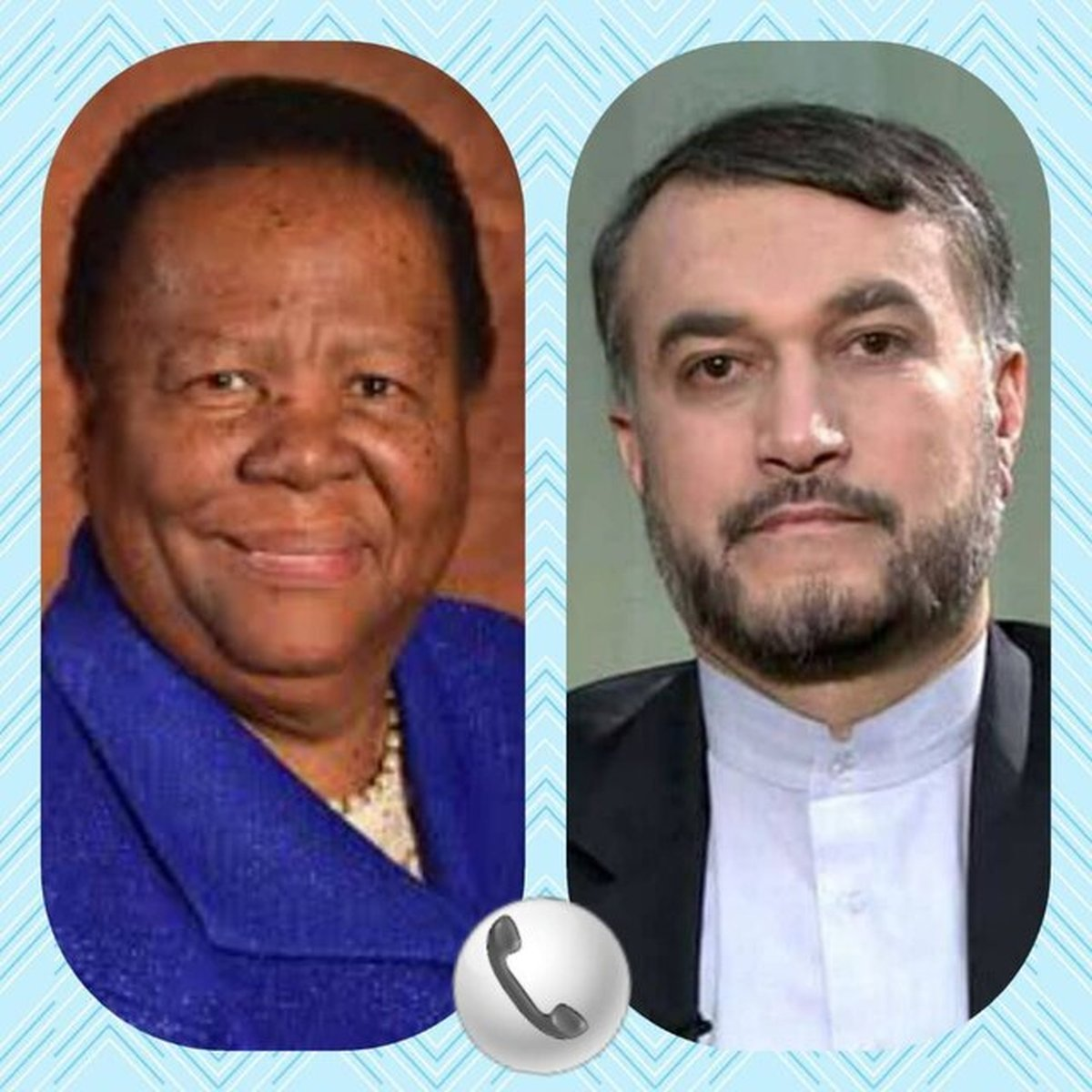 تاکید وزرای خارجه ایران و آفریقای جنوبی بر گسترش روابط دوجانبه
