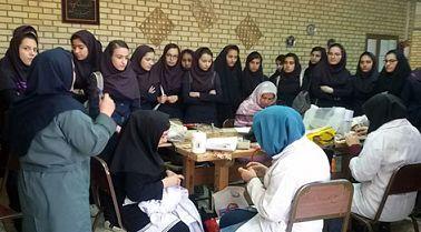 بازدید 60 نفر از دانش آموزان مدارس سماء از کارگاه های مهارتی در نجف آباد