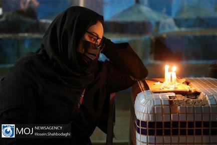 عزاداری شام غریبان حسینی در جوار حرم مطهر حضرت معصومه (س)