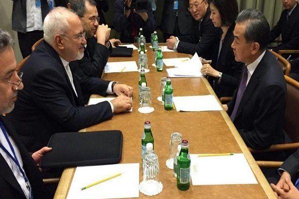 وزرای امور خارجه ایران و چین در نیویورک دیدار کردند