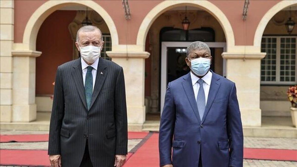 تاکید اردوغان بر ادامه حمایت آنکار از آنگولا در زمینه صنایع دفاعی