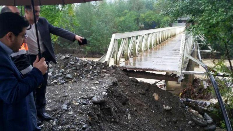 تخریب سد بتونی روستای خالکایی ماسال/وقوع سیلاب در ماسال و فومن و بسته شدن راه چند روستا