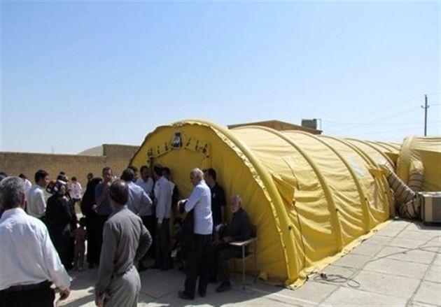 آغاز بهکار بیمارستان صحرایی سپاه در منطقه چاهمبارک عسلویه