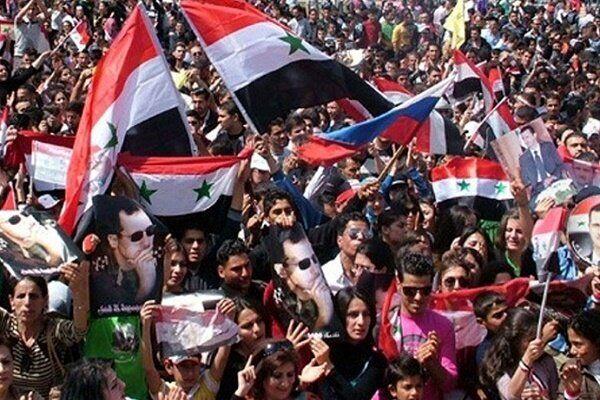 برگزاری تظاهرات ضد آمریکایی در سوریه
