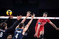 گزارش زنده والیبال ایران و آمریکا/ ایران3    آمریکا 0