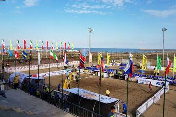 سومین مرحله تور جهانی والیبال ساحلی کاسپین در منطقه آزاد انزلی آغاز شد