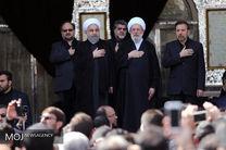حضور روحانی در مراسم عاشورای حرم عبدالعظیم