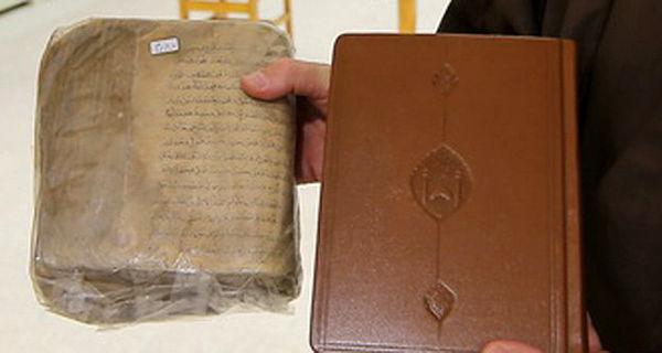 مرمت و صحافی کتب قدیمی و خطی در کتابخانه حرم حضرت معصومه(س)