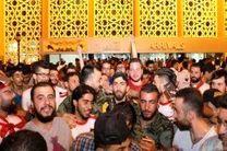استقبال باشکوه از سوریها در فرودگاه