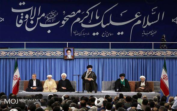 دیدار مسئولان نظام و سفرای کشورهای اسلامی با رهبر معظم انقلاب اسلامی ایران