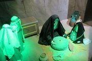 برگزاری نمایشگاه یاس کبود در امامزاده محسن(ع) در اصفهان